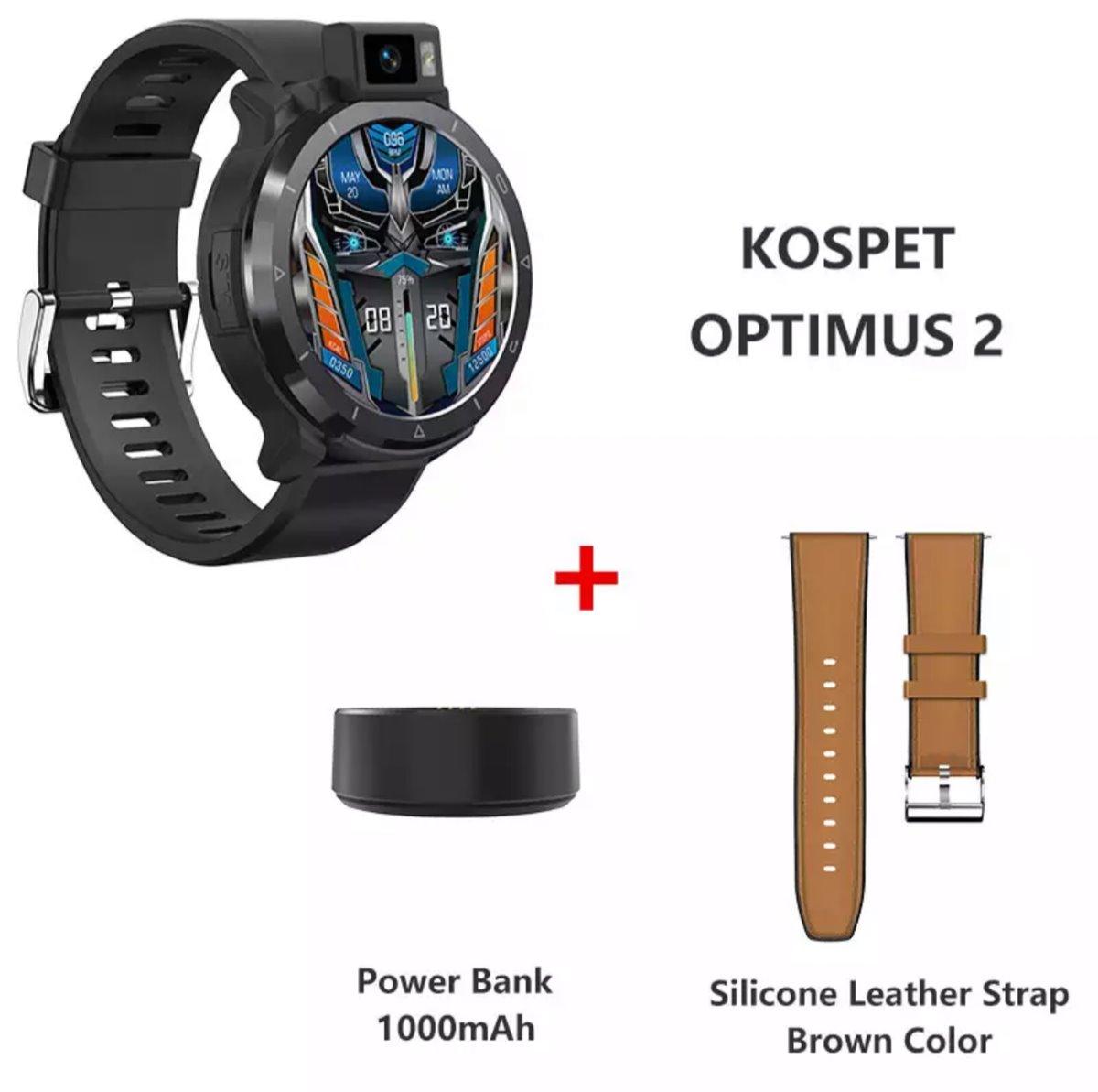 KOSPET Optimus 2 Çift Modlu Çift Çip 4GB+64GB Sekiz Çekirdekli 4G-LTE GPS+Beidou Android 10.7 SpO2 Monitör Akıllı Saat   Kospet Türkiye NatroNet Global'de GARANTİLİ İMEİ KAYITLI 7/24 müşteri destek ekibi hizmeti ile.